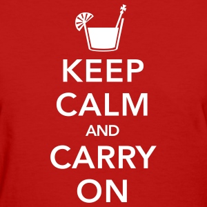 Red Keep Calm And Carry On Women's T-Shirts - Women's T-Shirt