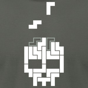 Tetris-Skull - Men's T-Shirt by American Apparel