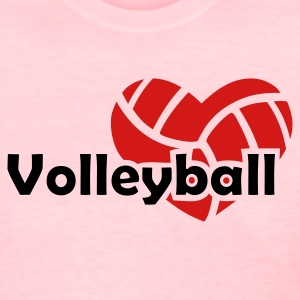 Pink Love  Volleyball Women's T-Shirts - Women's T-Shirt