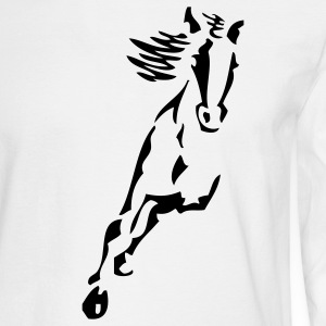 White pferd Long Sleeve Shirts - Men's Long Sleeve T-Shirt