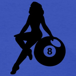 Light blue eight ball Women's T-Shirts - Women's T-Shirt