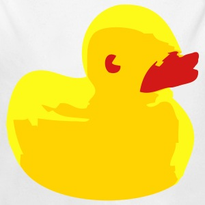 White Rubber duck Baby Body - Long Sleeve Baby Bodysuit