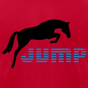 Light blue horse T-Shirts - Men's T-Shirt by American Apparel