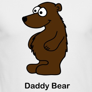 White Daddy Bear Long Sleeve Shirts - Men's Long Sleeve T-Shirt by Next Level