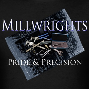 millwright_pride__precision T-Shirts - Men's T-Shirt