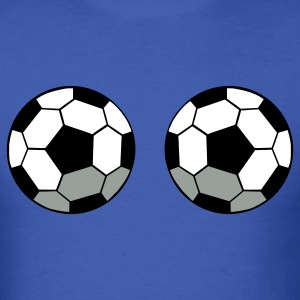 Royal blue TWO SOCCER BALLS T-Shirts - Men's T-Shirt