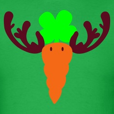 Bright green carrot reindeer T-Shirts