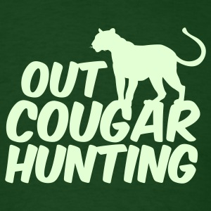 Forest green OUT COUGAR HUNTING T-Shirts - Men's T-Shirt