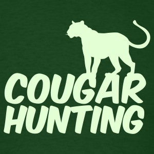 Forest green COUGAR HUNTING T-Shirts - Men's T-Shirt