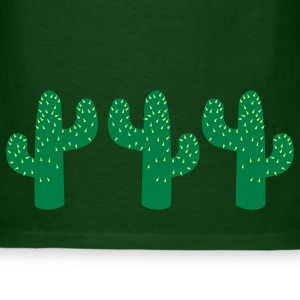 Forest green RANDOM CACTUS THREESOME T-Shirts - Men's T-Shirt