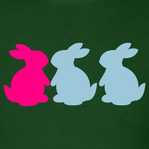 Forest green BUNNY threesome T-Shirts - Men's T-Shirt