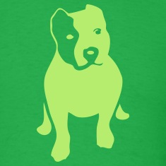 Bright green pitbull T-Shirts