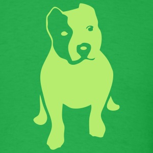 Bright green pitbull T-Shirts - Men's T-Shirt