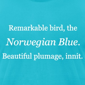 Turquoise Parrot Sketch T-Shirts - Men's T-Shirt by American Apparel
