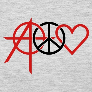 Gray anarchy peace love (2c) Long Sleeve Shirts - Women's Long Sleeve Jersey T-Shirt