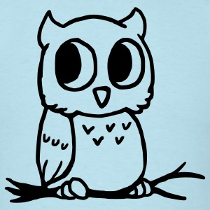 Sky blue Owl T-Shirts - Men's T-Shirt
