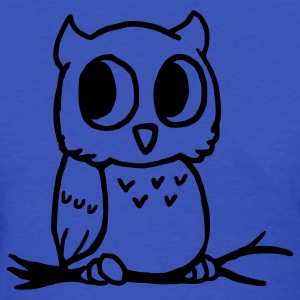 Light blue Owl Women's T-Shirts - Women's T-Shirt
