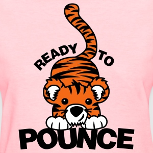 Pink Ready to Pounce Women's T-Shirts - Women's T-Shirt