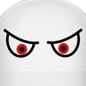 White Evil watching eyes Caps - Baseball Cap