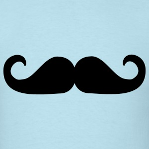 Sky blue Mustache T-Shirts - Men's T-Shirt