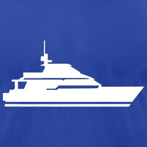 Royal blue Boat - Ship T-Shirts - Men's T-Shirt by American Apparel