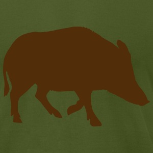 Olive Pig T-Shirts - Men's T-Shirt by American Apparel