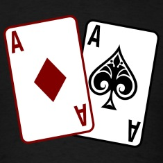 Black Poker Cards T-Shirts