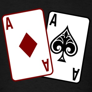 Black Poker Cards T-Shirts - Men's T-Shirt