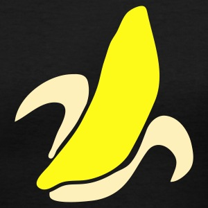 Black banana shape or an ear corn Women's T-Shirts - Women's V-Neck T-Shirt