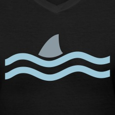 Black SHARK IN THE WATER Women's T-Shirts