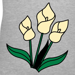 Gray white lily flowers for remembrance Women's T-Shirts - Women's V-Neck T-Shirt