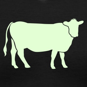 Black COW BEEF one color Women's T-Shirts - Women's V-Neck T-Shirt