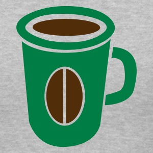 Gray green coffee cup with bean Women's T-Shirts - Women's V-Neck T-Shirt