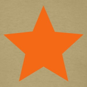 Khaki Star T-Shirts - Men's T-Shirt