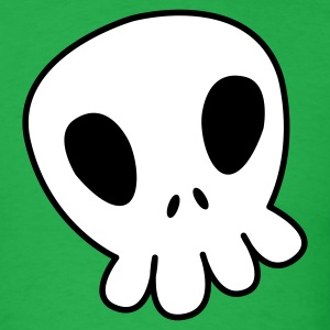 Bright green CUTE SKULLY T-Shirts - Men's T-Shirt
