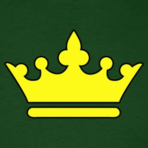 Forest green KINGS CROWN prince princess or Queen T-Shirts - Men's T-Shirt