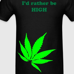 Pot Leaf ( Vector Graphic ) - Men's T-Shirt