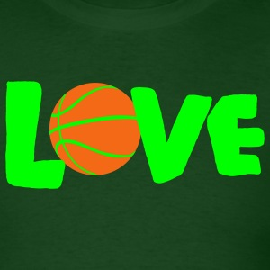 Forest green LOVE basketball T-Shirts - Men's T-Shirt