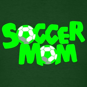 Forest green SOCCER MOM football mother T-Shirts - Men's T-Shirt