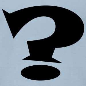 Question Mark - Men's T-Shirt by American Apparel