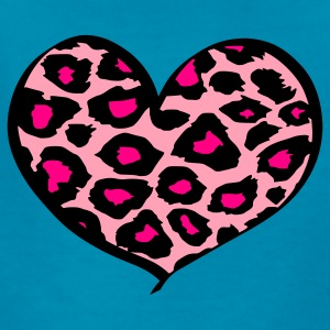 Hot pink cheetah heart Kids' Shirts - Kids' T-Shirt