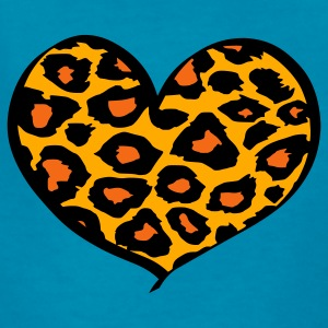 Orange cheetah heart Kids' Shirts - Kids' T-Shirt