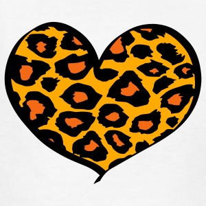White cheetah heart Kids' Shirts - Kids' T-Shirt