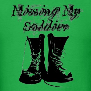 Bright green Missing My Soldier T-Shirts - Men's T-Shirt