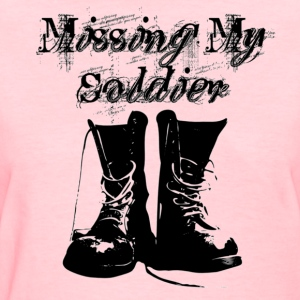 Pink Missing My Soldier Women's T-Shirts - Women's T-Shirt
