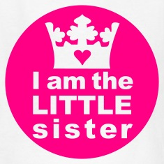 White I am the Little Sister Kids' Shirts