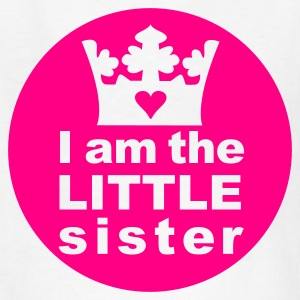 White I am the Little Sister Kids' Shirts - Kids' T-Shirt