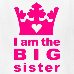 White I am the big Sister Kids' Shirts - Kids' T-Shirt