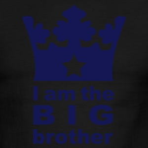 Sky/navy I am the big Brother T-Shirts - Men's Ringer T-Shirt