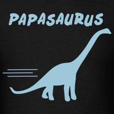 Black papasaurus T-Shirts